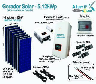 Gerador Solar – 5,12kWp